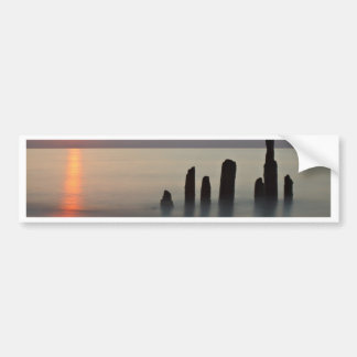 Groynes and sunset on the Baltic Sea coast Bumper Sticker