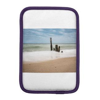 Groynes on shore of the Baltic Sea iPad Mini Sleeve