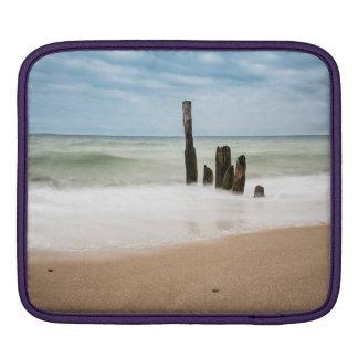 Groynes on shore of the Baltic Sea iPad Sleeve
