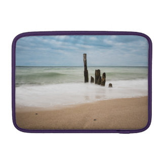 Groynes on shore of the Baltic Sea Sleeve For MacBook Air