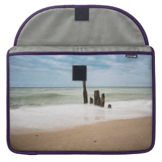 Groynes on shore of the Baltic Sea Sleeve For MacBook Pro