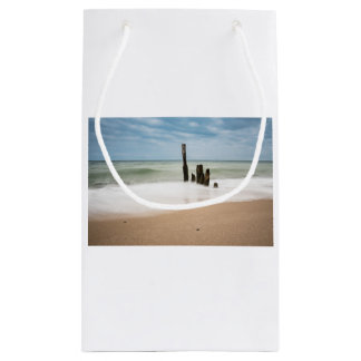 Groynes on shore of the Baltic Sea Small Gift Bag