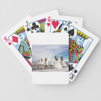Groynes on the Baltic Sea coast Bicycle Playing Cards