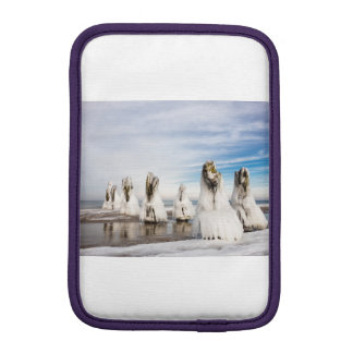 Groynes on the Baltic Sea coast iPad Mini Sleeve