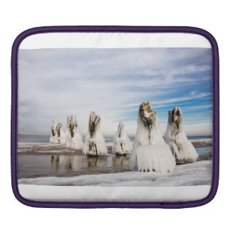 Groynes on the Baltic Sea coast iPad Sleeve