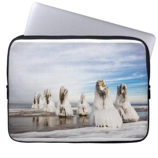 Groynes on the Baltic Sea coast Laptop Sleeve