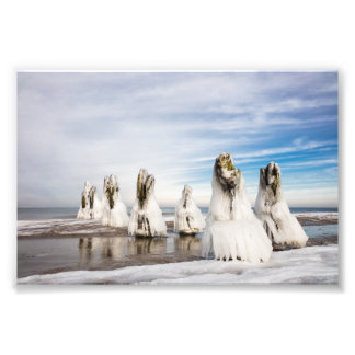Groynes on the Baltic Sea coast Photo Print