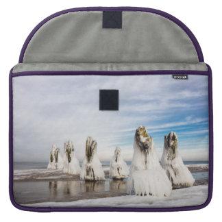 Groynes on the Baltic Sea coast Sleeve For MacBook Pro