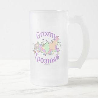 Grozny Russia Frosted Glass Beer Mug