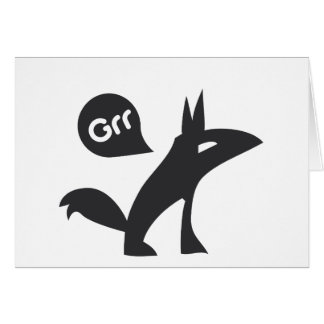 Grr Esprit Noir Greeting Card