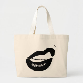 Grr What! Black Lipstick and clinched teeth Canvas Bags