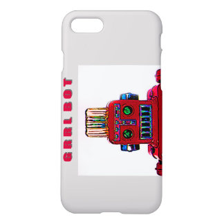 Grrl Bot, just a Fem Robot in the Big City iPhone 8/7 Case