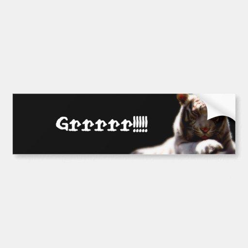 Grrrr!! Tiger Bumper Stickers
