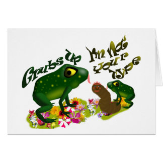 Grubs up stationery note card