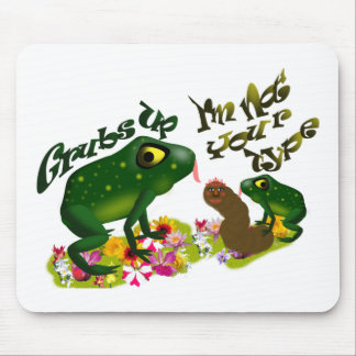 Grubs up mouse pad