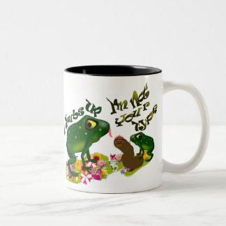 Grubs up Two-Tone coffee mug