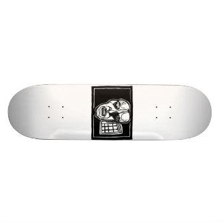 Gruesome Face design by ParanormalPrints 20.6 Cm Skateboard Deck