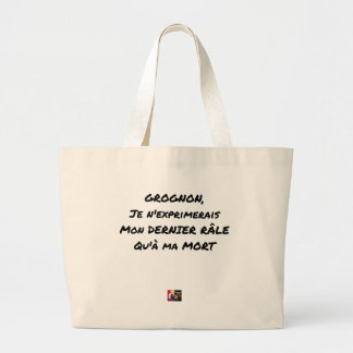 GRUMBLER, I WOULD EXPRESS MY LAST RAIL ONLY WITH LARGE TOTE BAG