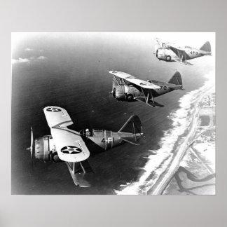 Grumman F3F-1 Fighters Poster