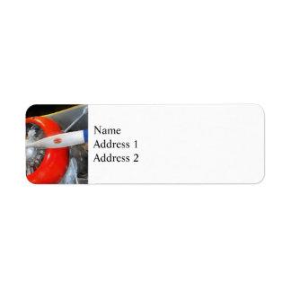 Grumman F3F-2 Biplane Return Address Label