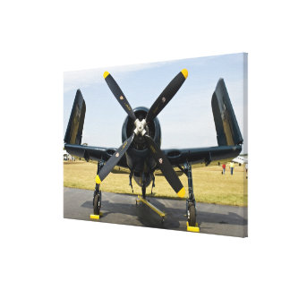 Grumman F8F Bearcat Navy Carrier Fighter on the Gallery Wrap Canvas