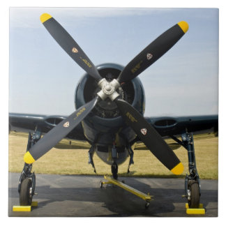Grumman F8F Bearcat Navy Carrier Fighter on the Large Square Tile