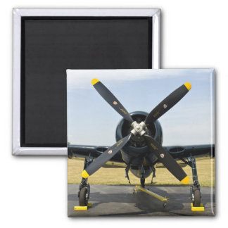 Grumman F8F Bearcat Navy Carrier Fighter on the Square Magnet