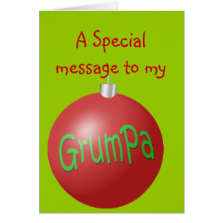 Grumpa Christmas ornament Card