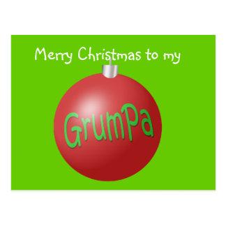 Grumpa Christmas ornament Postcard