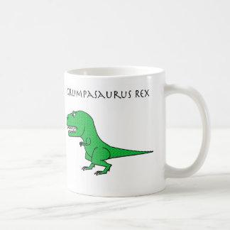 Grumpasaurus Rex Green Textured Mug