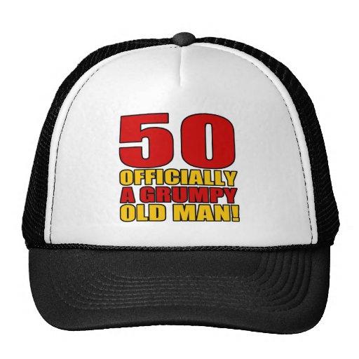 Grumpy 50th Birthday Humor Hats