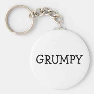 Grumpy Basic Round Button Key Ring