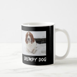 Grumpy Basset Hound mug.