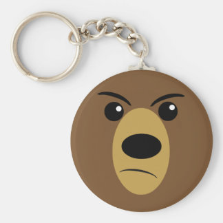 Grumpy Bear Face Key Ring