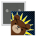 Grumpy Bear Roar 15 Cm Square Badge