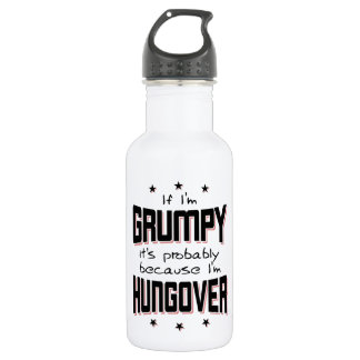 GRUMPY because HUNGOVER (blk) 532 Ml Water Bottle