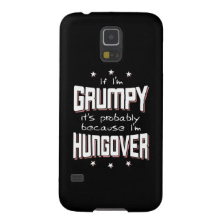 GRUMPY because HUNGOVER (blk) Galaxy S5 Cover
