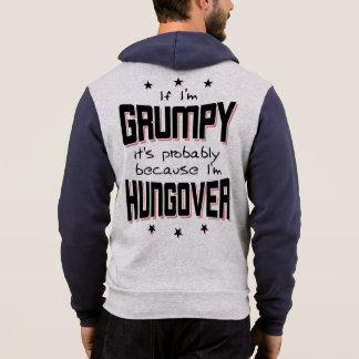 GRUMPY because HUNGOVER (blk) Hoodie