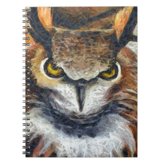 Grumpy Big Ear Owl Notebooks