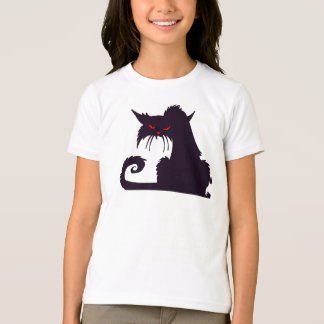 Grumpy Black Cat Girls T-Shirt