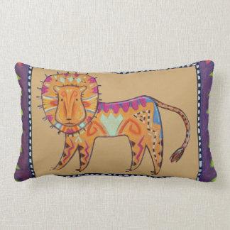 Grumpy Cat/Curious Lion reversible pillows