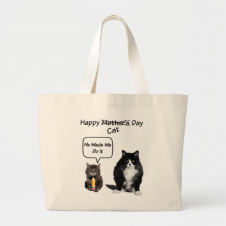 Grumpy Cat / Cute Kitten Mother's Day Tote Bags