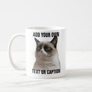 Grumpy Cat Glare - Add your own text Basic White Mug