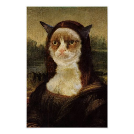 Grumpy Cat Mona Lisa Print