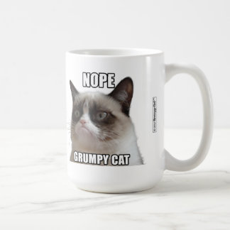 Grumpy Cat Mug - NOPE GRUMPY CAT