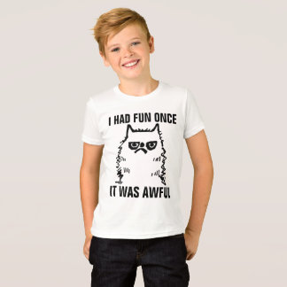 Grumpy Cat T-shirts for Kids Boys, HAD FUN ONCE