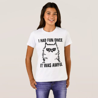 Grumpy Cat T-shirts for Kids, HAD FUN ONCE AWFUL
