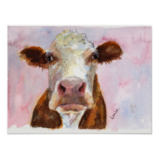 Grumpy Cow Poster