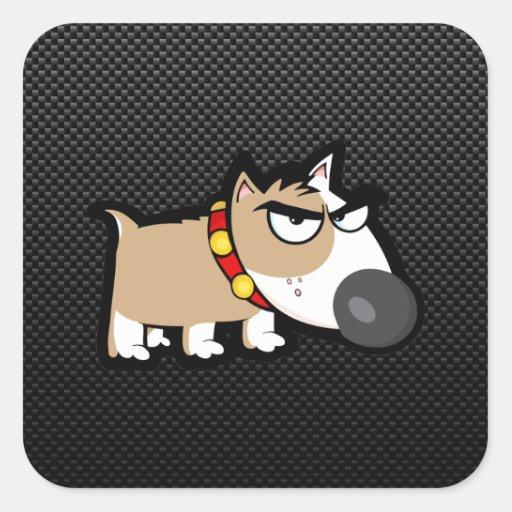 Grumpy Dog on Sleek Stickers