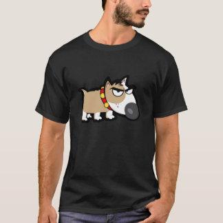 Grumpy Dog on Sleek T-Shirt